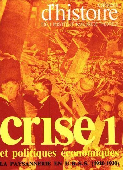 La crise comme objet d'étude historique