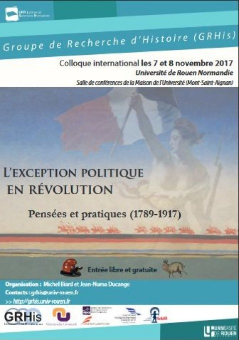 L'exception politique en révolution. Pensées et pratiques (1789-1917)