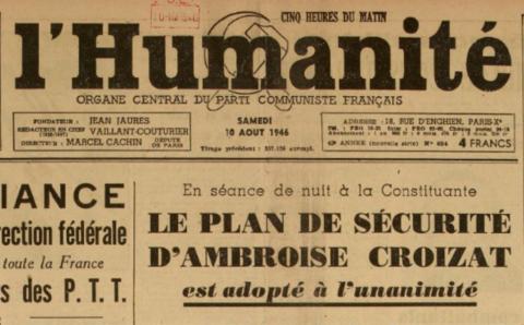 La création de la sécurité sociale dans l'Humanité